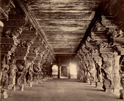 A passage in the [Minakshi Sundareshvara] temple, Madura